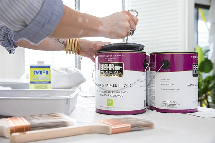 Preparing paint for an ombre wall project