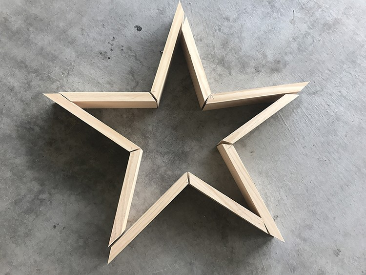 Wooden Star Decoration for the Fourth of July