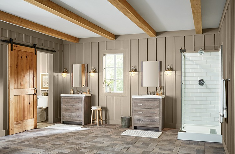 On-Trend Bathroom Ideas: Farmhouse Look