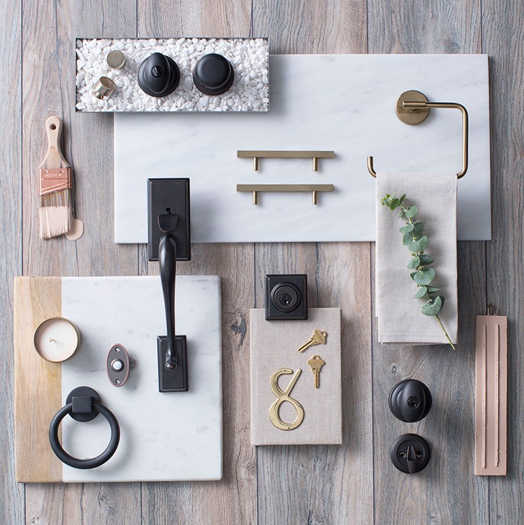 "New Decor Trends in Hardware: Mixed Metals with the Same ""Temperature"""