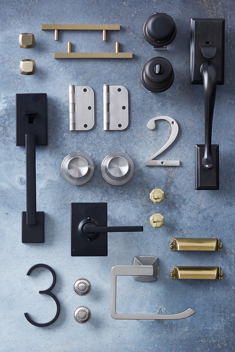 Hardware Looks to Inspire: Mixed Metals and Finishes