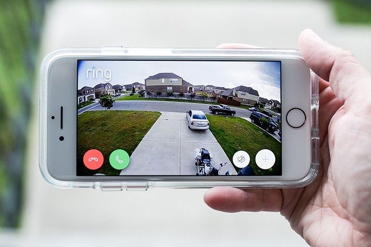 Ring Floodlight Security Camera Smartphone App