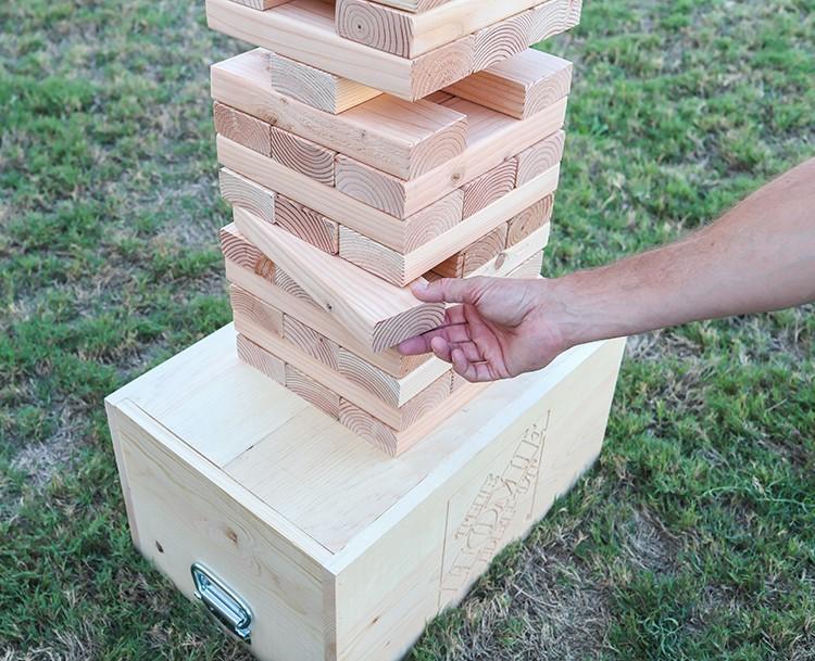 Outdoor Block Stacking Game