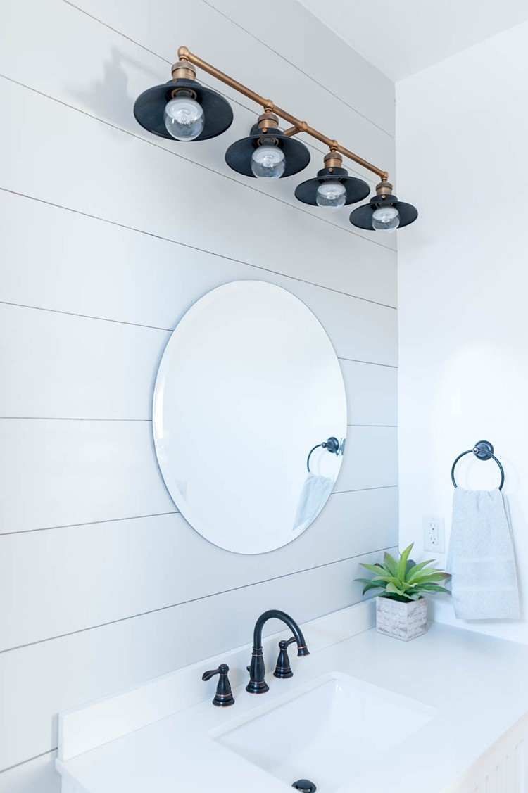 New bathroom lighting