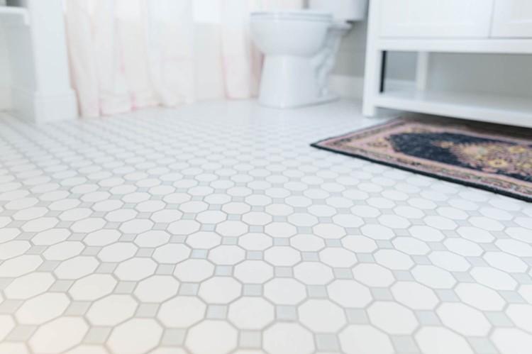 New bathroom flooring