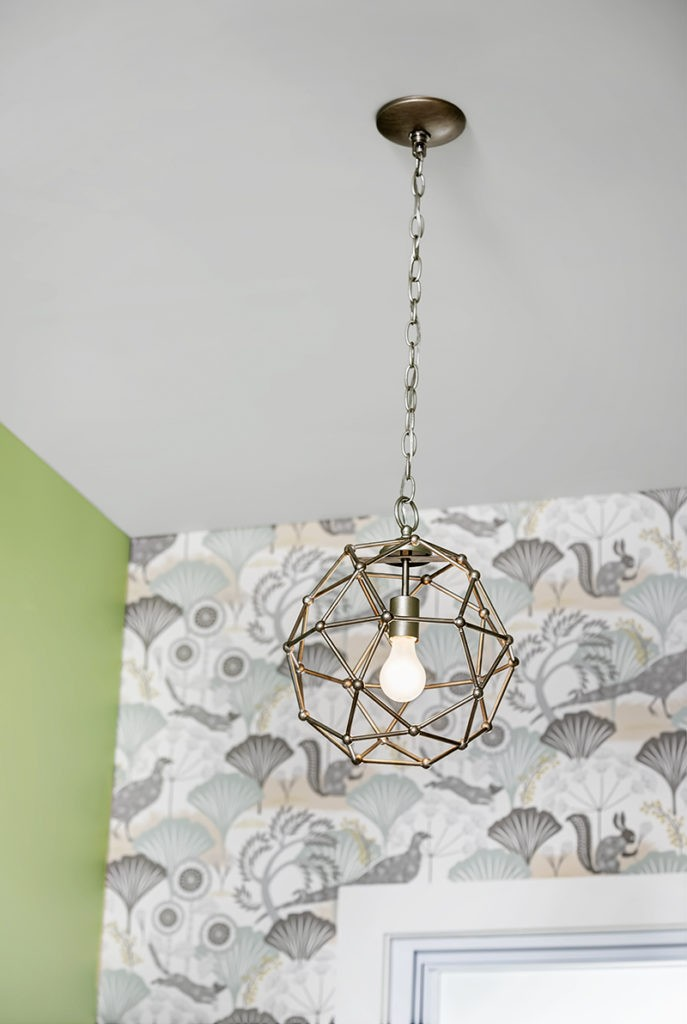 How to Update Bathroom Lighting - Finished Light Fixture