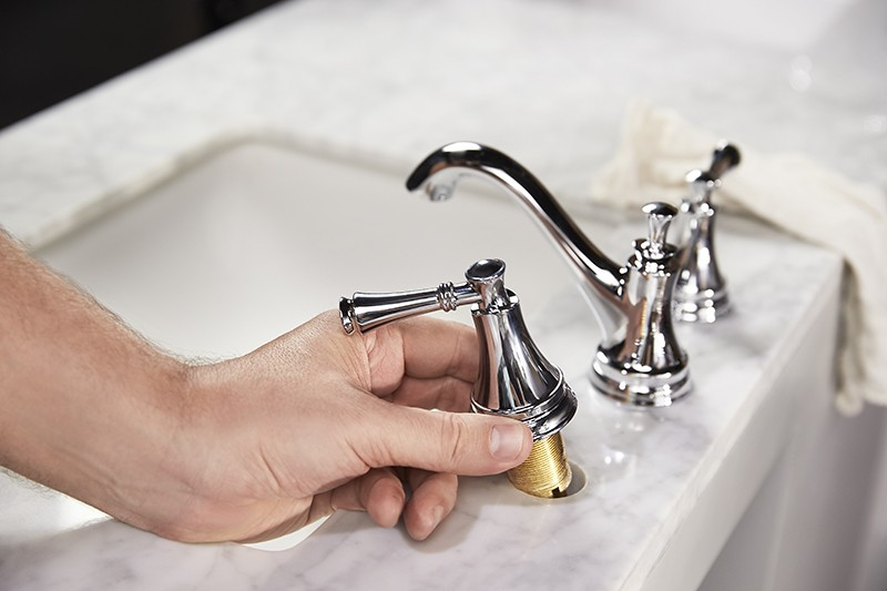 How To Update Your Vanity and Faucet - Install Faucet