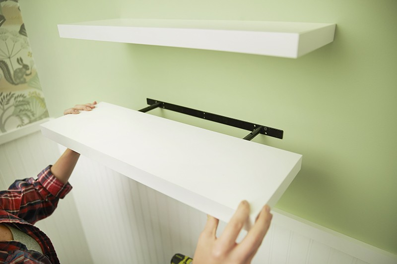 How To Install Floating Shelves - Add Shelf Casing