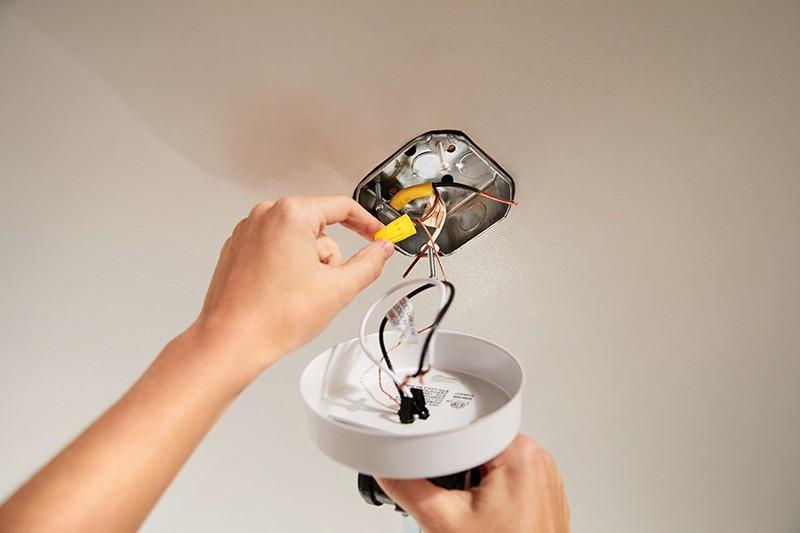How to Update Bathroom Lighting - Remove Old Fixture