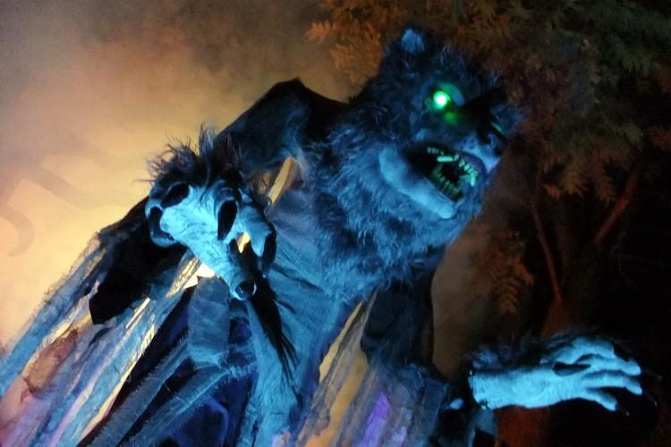 Spooky Halloween Werewolf Scene