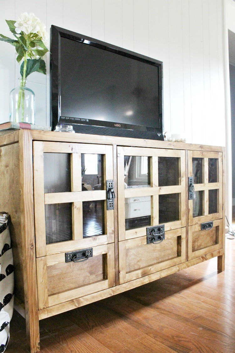 How to Build a Modern Style TV Console