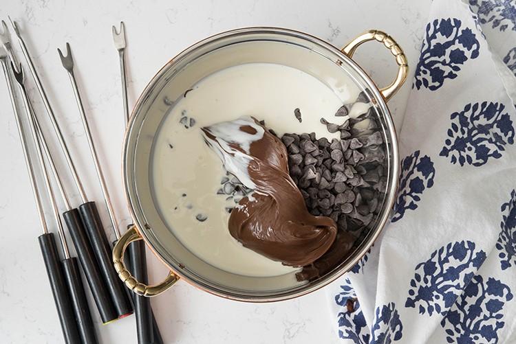 Holiday Chocolate Hazelnut Fondue Recipe