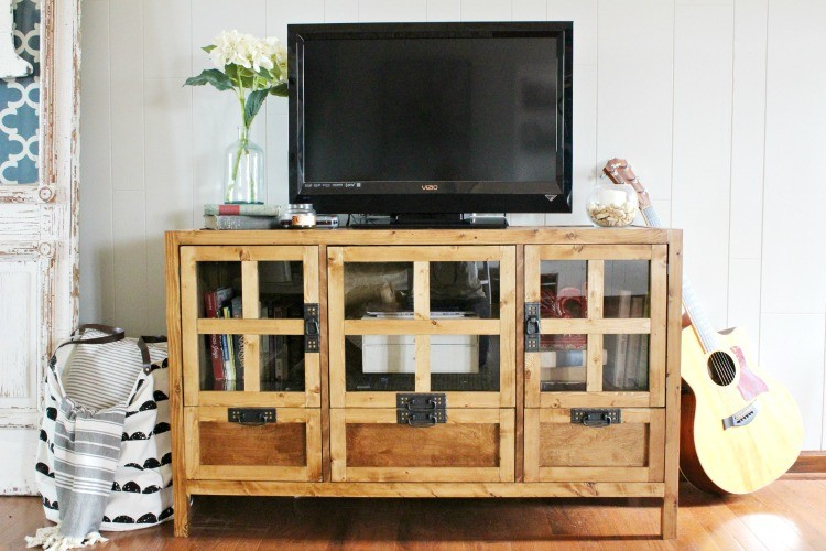 How to Build a Modern Style DIY TV Console
