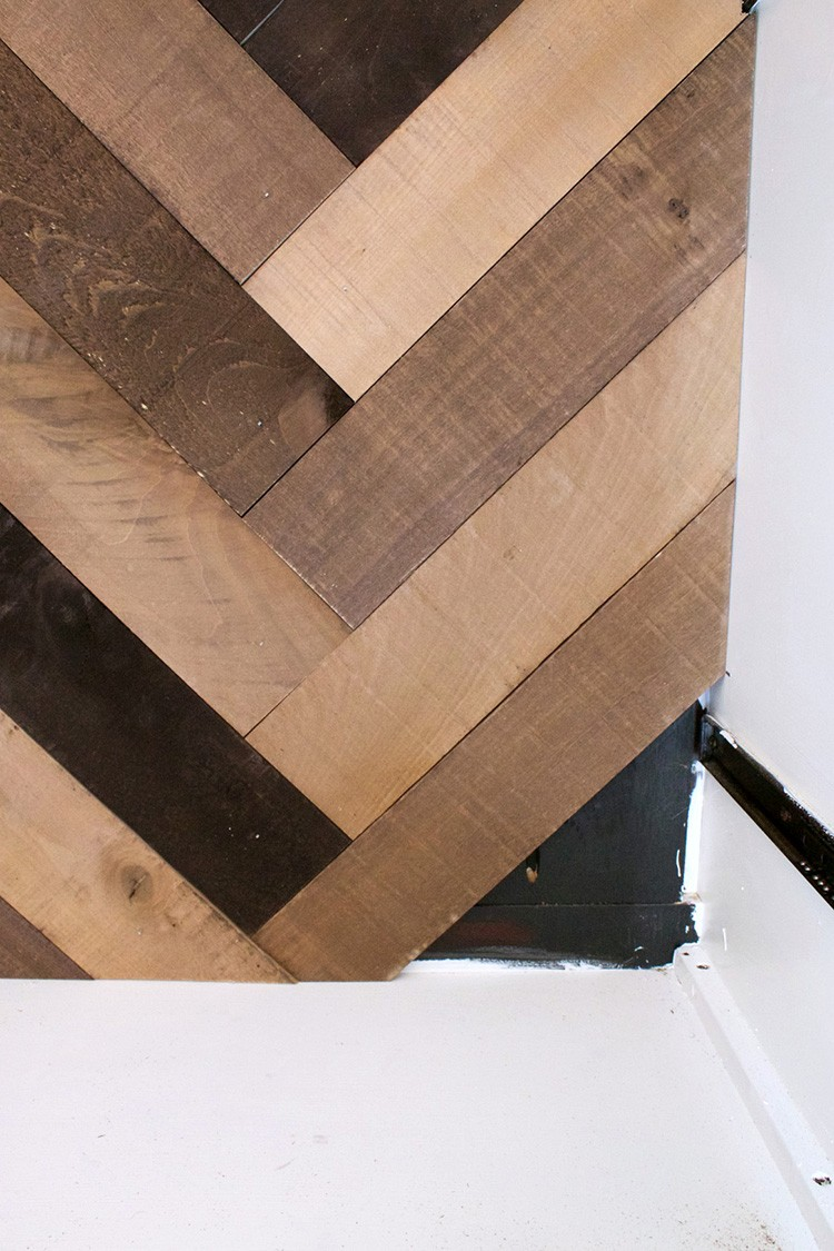 Weathered Wood Herringbone Look