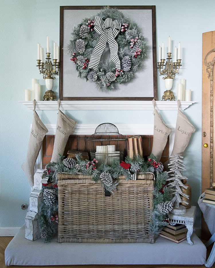 Festive Holiday Mantel with Vintage Accents and Christmas Decor | Holiday Decorating Tips