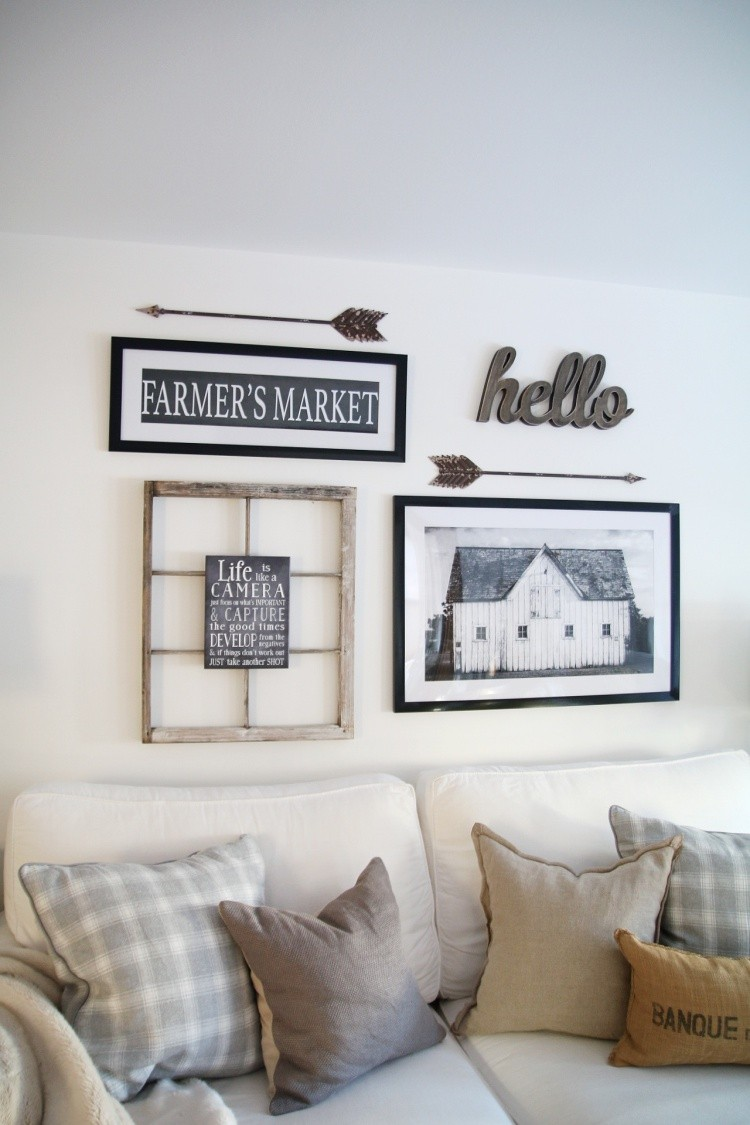 How to Design a Modern Farmhouse Gallery Wall