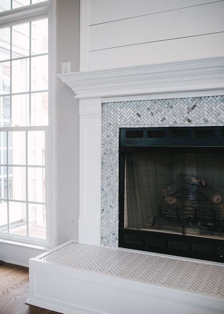 How to Brighten Up a Room with a Tile Fireplace Makeover