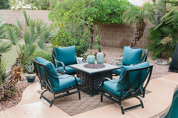 See how Alex Evjen of AveStyles used outdoor patio furniture to transform her backyard into a desert oasis for The Home Depot Patio Style Challenge.