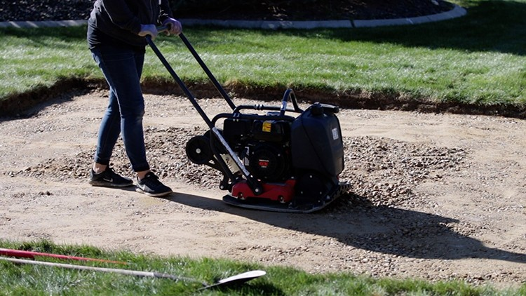 Follow along as Laura and Aaron of the popular YouTube channel, Garden Answer, take you through creating a paver patio from the ground up.
