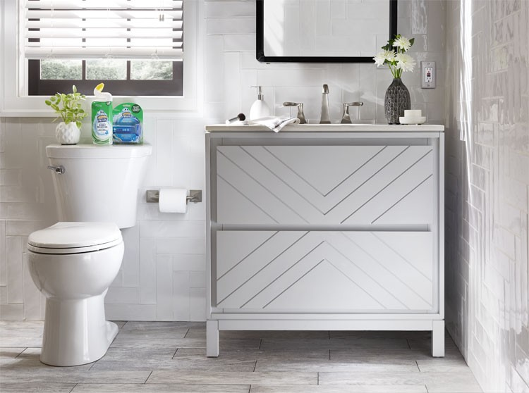 Bathroom Refresh with Scrubbing Bubbles