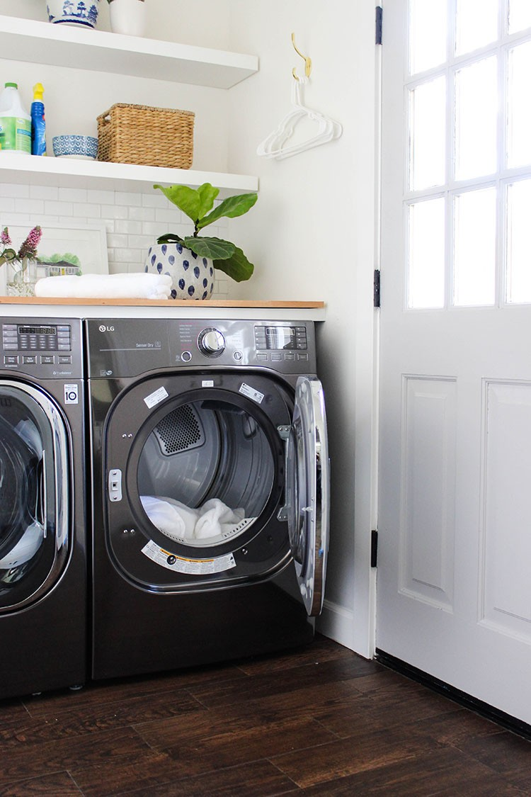 See how The Home Depot helped Katrina Sullivan of Chic Little House complete her laundry room refresh for a space that's organized, inviting and functional.