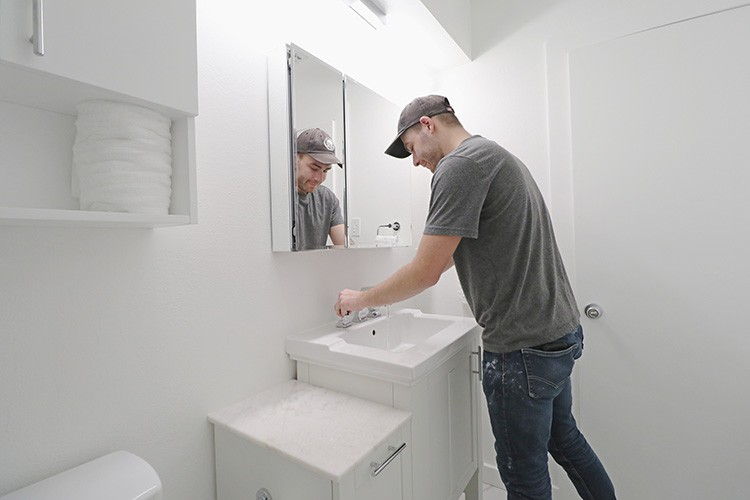 Mike Montgomery takes on a modern bathroom renovation, turning his dark and dated guest bathroom into a bright and inviting space.