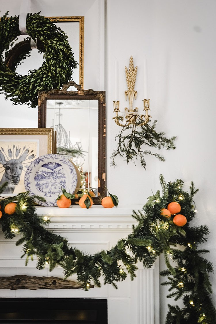 With products from The Home Depot, Nichol Naranjo styled her living area to embody classic Christmas with a modern twist.