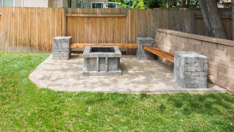 Outdoor Entertainment Space Update with Pavers