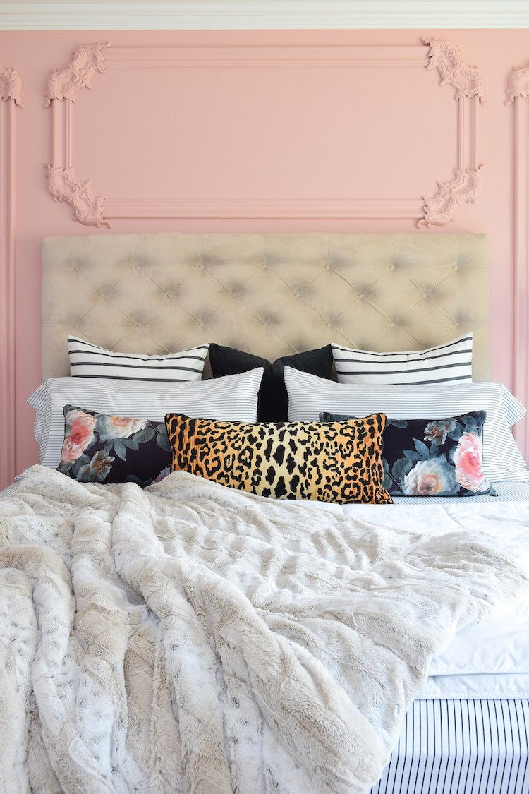 Accent Wall Paint as Décor in a Master Bedroom