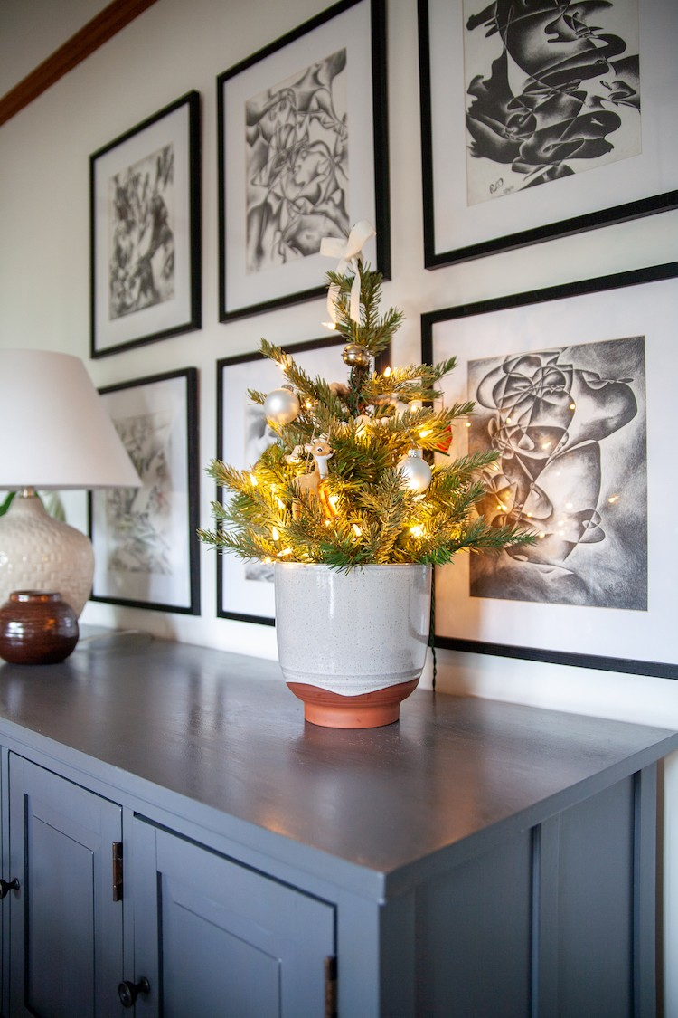 Fresh Faux Greenery and Classic Christmas Decor