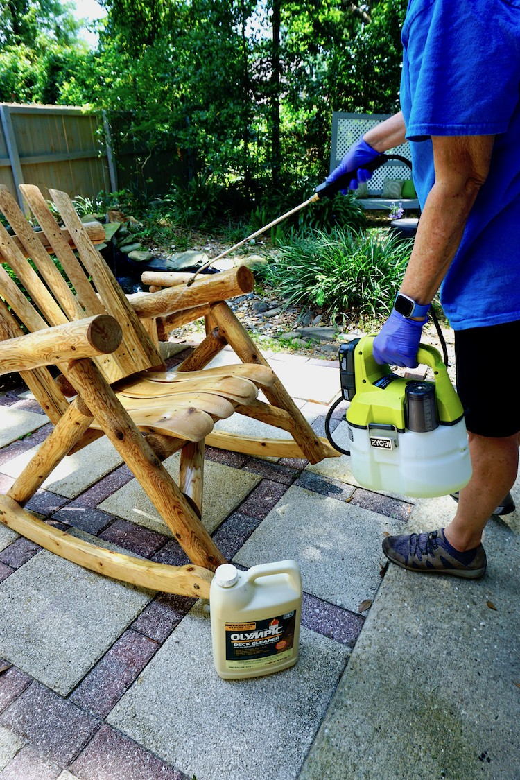 How to Improve the Look of Wood Patio Furniture with Olympic Elite Solid Stain