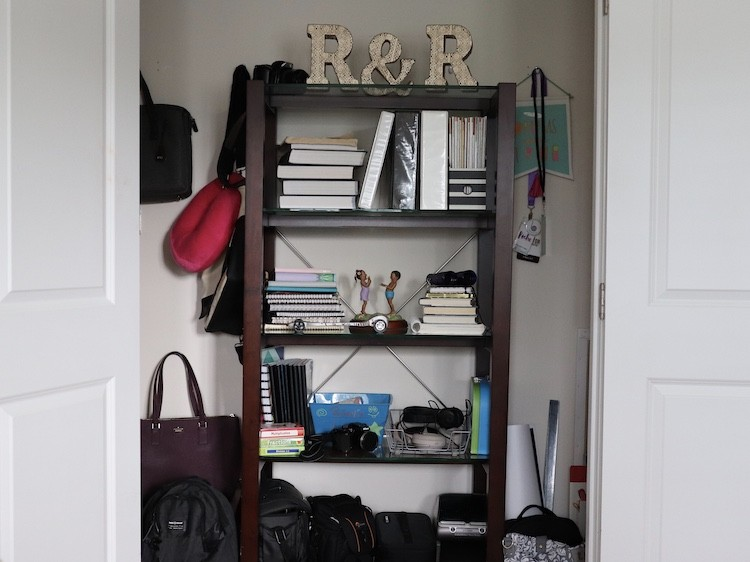 Book Shelf Closet Makeover